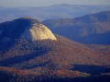 Looking Glass Rock  Surrounded by Forested Hills in Autumn Hues