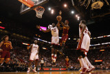 Cleveland Cavaliers  v Miami Heat: Joel Anthony and Daniel Gibson