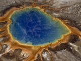Algae-Tinted Shallows Ring Yellowstone&#39;s Steaming Grand Prismatic Spring