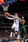 Milwaukee Bucks v Philadelphia 76ers: Andres Nocioni and Corey Maggette