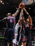 Atlanta Hawks v Orlando Magic: Josh Smith  Etan Thomas and Dwight Howard