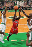 Chicago Bulls v Boston Celtics: Luol Deng and Kevin Garnett