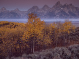 Teton Range Towers Above Jackson Hole  Wyoming