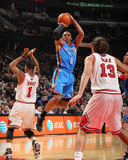 Oklahoma City Thunder v Chicago Bulls: Russell Westbrook  Derrick Rose and Joakim Noah