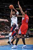 Los Angeles Clippers v Denver Nuggets: Nene and Deandre Jordan
