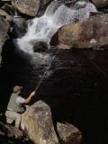 Man Fishing in the Whitewater River