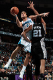San Antonio Spurs v New Orleans Hornets: Marco Belinelli and Tim Duncan