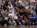 Miami Heat v Dallas Mavericks: LeBron James and Caron Butler