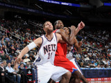 Philadelphia 76ers v New Jersey Nets: Brook Lopez and Elton Brand
