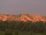Eroded Hills Shot at Sunrise in Little Missouri National Grasslands