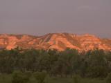 Eroded Hills Shot at Sunrise in Little Missouri National Grasslands