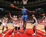 Oklahoma City Thunder v Chicago Bulls: Serge Ibaka and Omer Asik