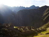 Machu Picchu  Ruins Leftover from the Inca Empire  on a Sunny Morning