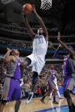 Phoenix Suns v Dallas Mavericks: Brendan Haywood  Hakim Warrick and Goran Dragic
