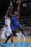Detroit Pistons v Dallas Mavericks: Greg Monroe and Brendan Haywood