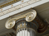 Gilded Volutes and Decoration on the Outside of the Academy of Athens