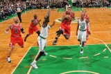 Chicago Bulls v Boston Celtics: Derrick Rose and Kevin Garnett