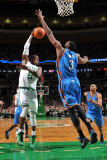 Oklahoma City Thunder v Boston Celtics: Rajon Rondo and DJ White