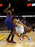 New York Knicks v Golden State Warriors: Stephen Curry and Ronny Turiaf