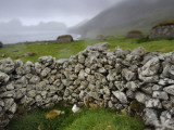 Drystone Wall Remnants of Saint Kilda&#39;s Main Settlement