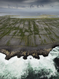 Aerial View of the Rugged Aran Islands