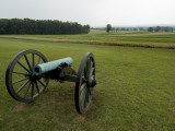 Civil War Cannon in Front of a Field at Gettysburg