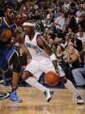 Golden State Warriors v Dallas Mavericks: Jason Terry and Dorrell Wright