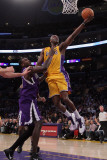Sacramento Kings v Los Angeles Lakers: Lamar Odom and Samuel Dalembert