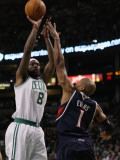 Atlanta Hawks v Boston Celtics: Marquis Daniels and Maurice Evans