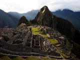 High Angle View of Machu Picchu  an Archaeological Site in Peru