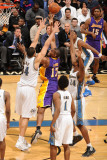 Los Angeles Lakers v Washington Wizards: Andrew Bynum  JaVale McGee and Hilton Armstrong