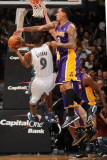 Los Angeles Lakers v Washington Wizards: Gilbert Arenas and Matt Barnes