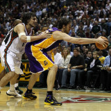 Los Angeles Lakers v Milwaukee Bucks: Pau Gasol and Andrew Bogut