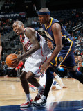 Indiana Pacers v Atlanta Hawks: Jamal Crawford and James Posey