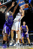 Sacramento Kings v Oklahoma City Thunder: Nick Collison and DeMarcus Cousins