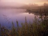 Foggy Sunrise over Water