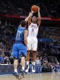 Dallas Mavericks v Oklahoma City Thunder: Eric Maynor and Jose Barea