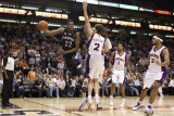 Memphis Grizzlies v Phoenix Suns: Rudy Gay and Goran Dragic