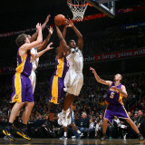 Los Angeles Lakers v Washington Wizards: Kevin Seraphin and rew Bynum and Pau Gasol