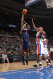 Atlanta Hawks v Detroit Pistons: Al Horford and Charlie Villanueva