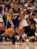 Los Angeles Lakers v Los Angeles Clippers: Shannon Brown and Baron Davis