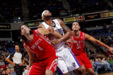 Houston Rockets v Sacramento Kings: DeMarcus Cousins  Shane Batter and Luis Scola
