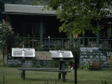 Sinks for Sale on a Picnic Table Outside a Home