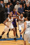 Los Angeles Lakers v Washington Wizards: Andrew Bynum  Hilton Armstrong and Cartier Martin