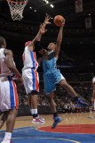 New Orleans Hornets v Detroit Pistons: David West and Charlie Villanueva