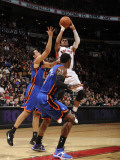 New York Knicks v Toronto Raptors: Leandro Barbosa and Landry Fields