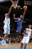 New York Knicks v Denver Nuggets: Raymond Felton and Chauncey Billups