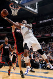 Miami Heat v Washington Wizards: Zydrunas Ilgauskas and Andray Blatche
