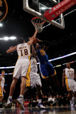 Golden State Warriors v Los Angeles Lakers: Jeff Adrien  Sasha Vujucic and Derrick Caracter