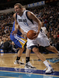 Golden State Warriors v Dallas Mavericks: Dirk Nowitzki and Andris Biedrins